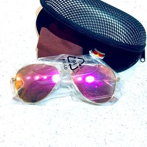 4/$50 🎉Polarized Mirror Aviator Sunglasses w/case